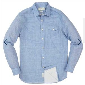 Chambray Double Cloth Shirt Heather Blue Sky